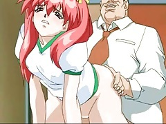 Old guy cums inside her wet hentai pussy tubes