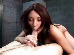 Locker room cock ride with an asian babe tubes