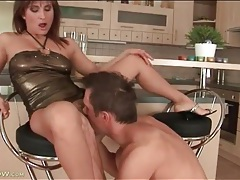 Milf in slutty club dress licked and fucked tubes