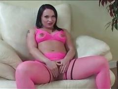 Katja kassin sucks dicks in hot pink lingerie tubes