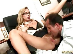 Boss fucks his slutty secretary in the asshole tubes