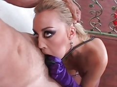 Rough blowjob porn with slut in lingerie tubes