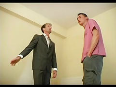 Cute young guy blows old man cock tubes