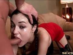 Sasha grey covered in spit in facefuck porn tubes