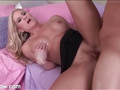 Mom with a fantastic firm body sucks and fucks tubes