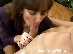 Milf secretary bent over a desk and fucked tubes
