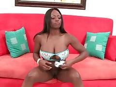 Black girl jada fire strokes dick in a bikini tubes
