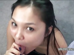 Asian gives a sexy bj in pov porn tubes