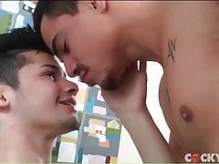 Erotic gay blowjob and kissing porn video tubes