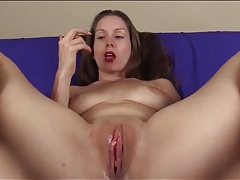 Sensual close up cunt fingering with beauty tubes