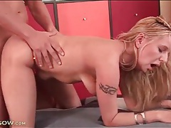 Blonde mom in orange panties fucked doggystyle tubes