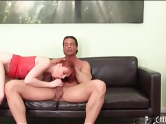 Redhead marie mccray sucks a dick sensually tubes