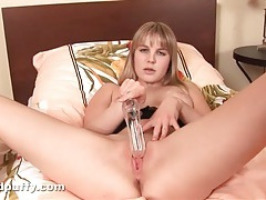 Speculum and electric toothbrush for her pussy tubes