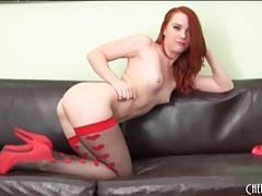 Redhead dani jensen looks utterly flawless tubes
