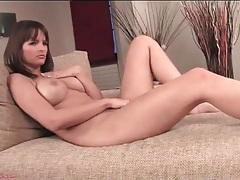 Busty young beauty in lace panties masturbates tubes