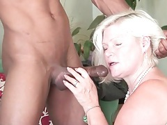 Black guy blown by thick blonde mature tubes