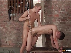 Bent over boy in chains fucked from behind tubes
