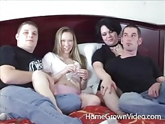 Swingers have hot oral sex in a foursome tubes