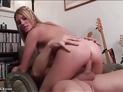 Bouncy natural titties on a cute cock rider tubes