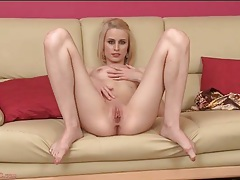 Skinny blonde beauty is sexy in solo porn tubes