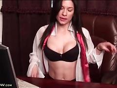 Latina milf with a super fit body masturbates tubes
