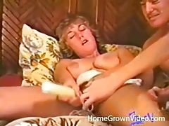 Hot vintage threesome with great cocksucking tubes