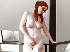 Redhead penny pax in a sexy striptease tubes