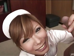 Sexy japanese nurse gives a hot blowjob tubes