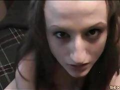 Long black cock fucks cute white girl in pov tubes