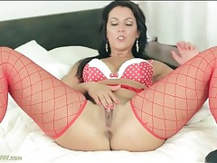Lingerie milf sucks and fucks a dildo tubes