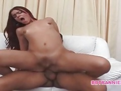 Finger fucked shemale takes hot anal screw tubes