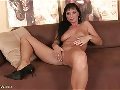 Mom masturbates and fondles her breasts tubes