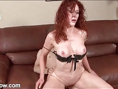 Lovely mature redhead fucked in bald pussy tubes