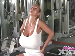 Big fake tits pornstar minka works out tubes
