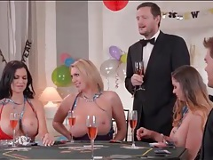 Big titty babes get frisky at a party tubes