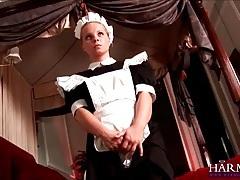 Dominant girl licks maid asshole and sucks cock tubes