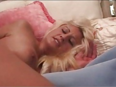 Blonde babe in pink stockings fucked in the ass tubes