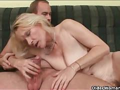 Old lady bent over and fucked doggystyle tubes