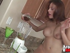 Tasty lime drink in the ass of layla rivera tubes