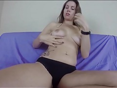 Slow striptease and dirty talk with lelu love tubes