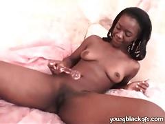 Cute black amateur fucks her favorite toy tubes