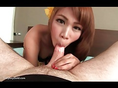 Pretty ladyboy takes dick up the ass tubes