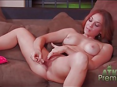 Aroused pussy drips juices during toy sex tubes