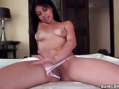 Teen latina gives head to big black dick tubes