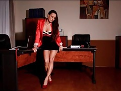 Beautiful secretary mea melone pissing tubes