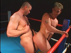 Muscular guys in gay anal compilation tubes