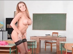 Satin and lace lingerie on busty teacher babe tubes