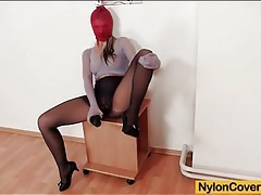 Pantyhose fetish video with close up toy sex tubes