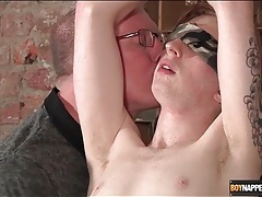 Blindfolded and bound boy stroked by his master tubes