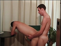 Bent over guy fucked in his tight asshole tubes
